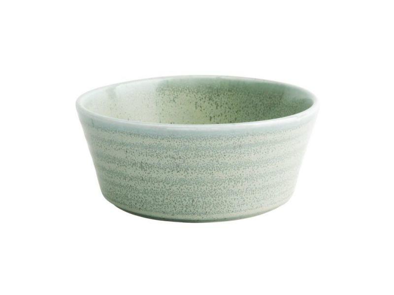 Bol rond 143 mm - 2 coloris - lot de 6 - olympia cavolo - 14,3 cm vert printanier porcelaine 53 cl