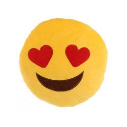Peluche coussin emoji amoureux
