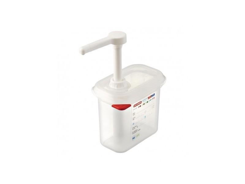 Distributeur de sauce gn 1/9 transparent - araven 1,5 l -