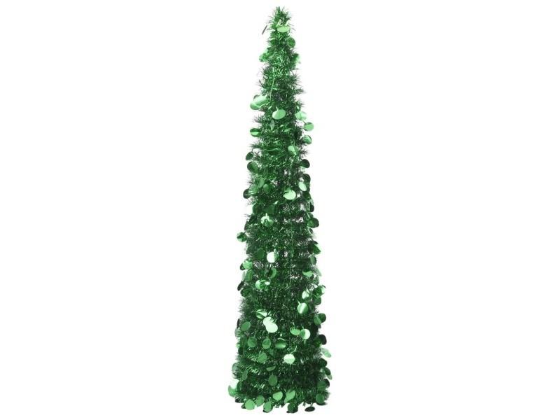 Vidaxl sapin de noël artificiel escamotable vert 150 cm pet 320989