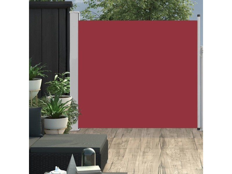 Contemporain vie en extérieur reference bujumbura auvent latéral rétractable de patio 170x300 cm rouge