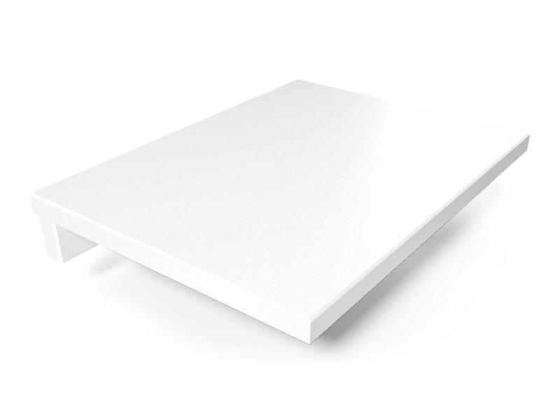 Tablette de chevet suspendue bois blanc 2820-LB