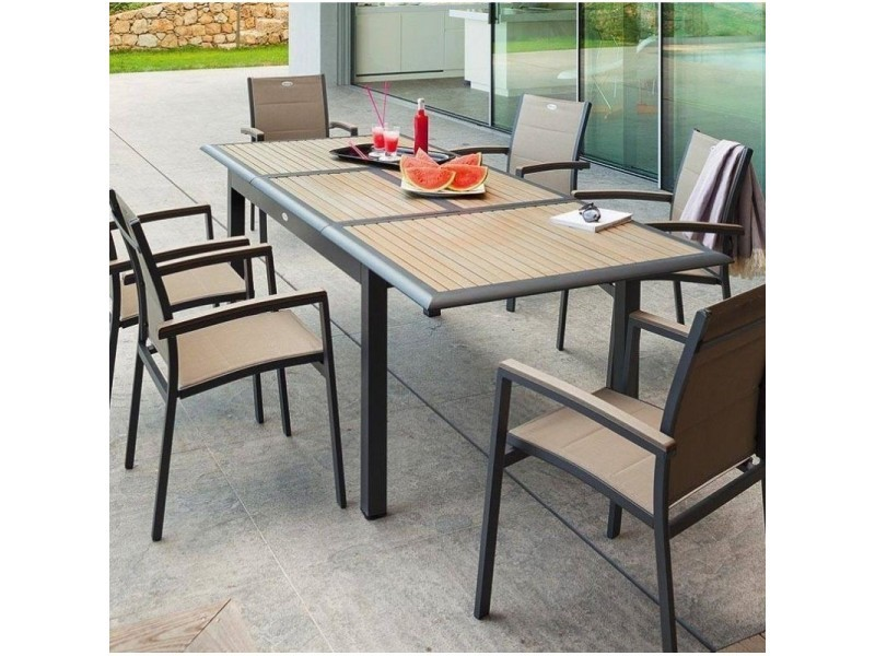 Table extensible rectangulaire azua composite 6/10 places ...
