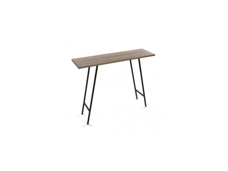 Console rectangulaire aspect bois métal noir hennan - Vente de VERSA -  Conforama bc395f9046e6