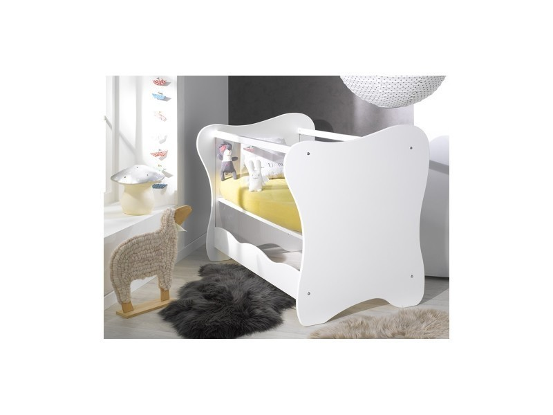 lit b b plexiglas iris vente de chambrekids conforama. Black Bedroom Furniture Sets. Home Design Ideas