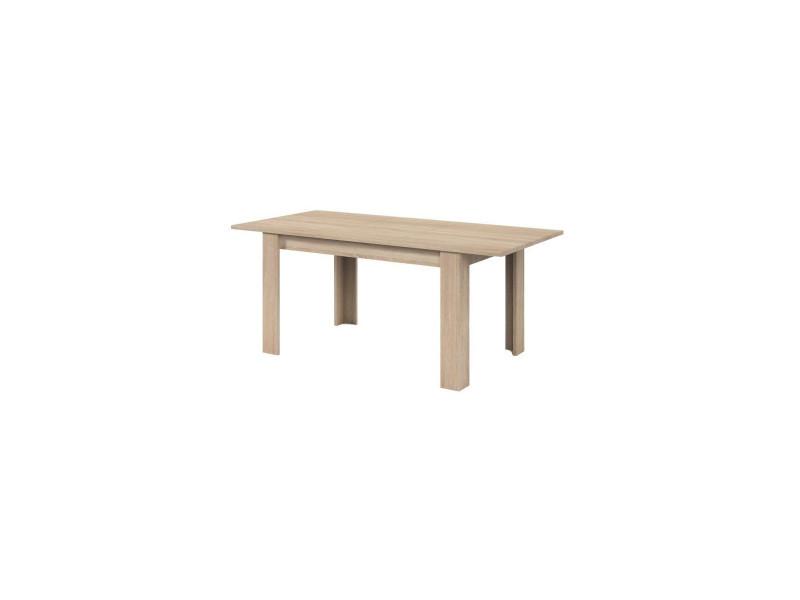 Kendra table a manger extensible de 6 a 8 personnes style contemporain melaminee decor chene - l 140-190 x l 90 cm FOTAB4586F