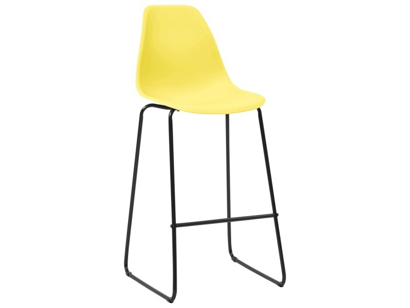 Vidaxl chaises de bar 4 pcs jaune plastique 281510 Vente