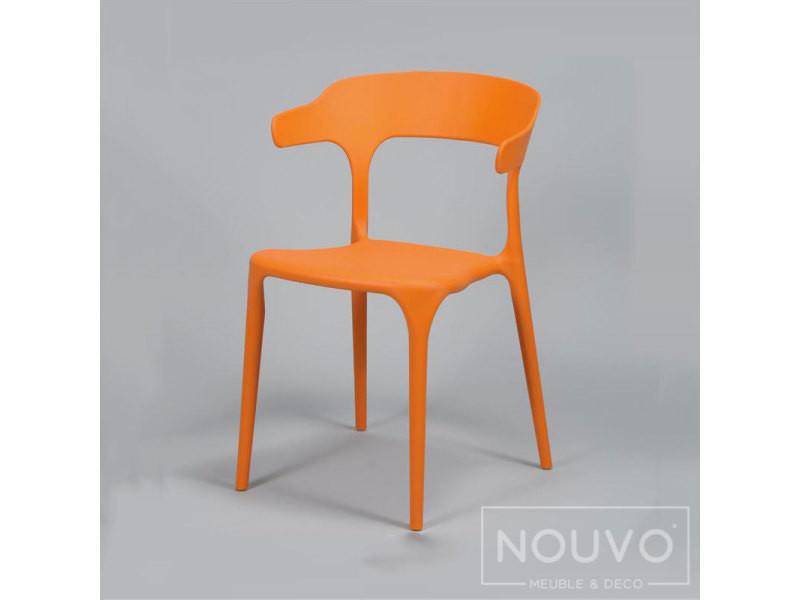 Chaise Orange Design Titia Lot De 4