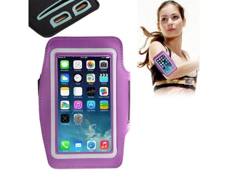 Brassard protection universel smartphone course à pied jogging sport violet - yonis
