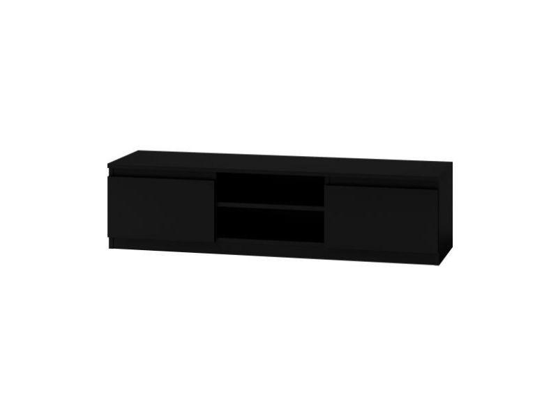 Meuble tv moderne pour salon 140 cm - noir