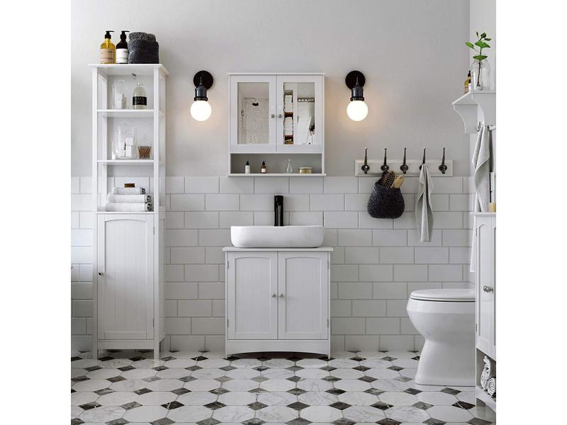 Colonne salle de bains - luke - 40 cm - blanc - style ...