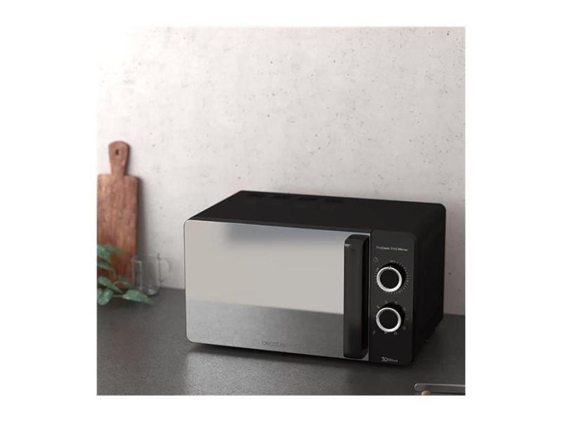 Micro-ondes de 20l avec minuterie 700w noir
