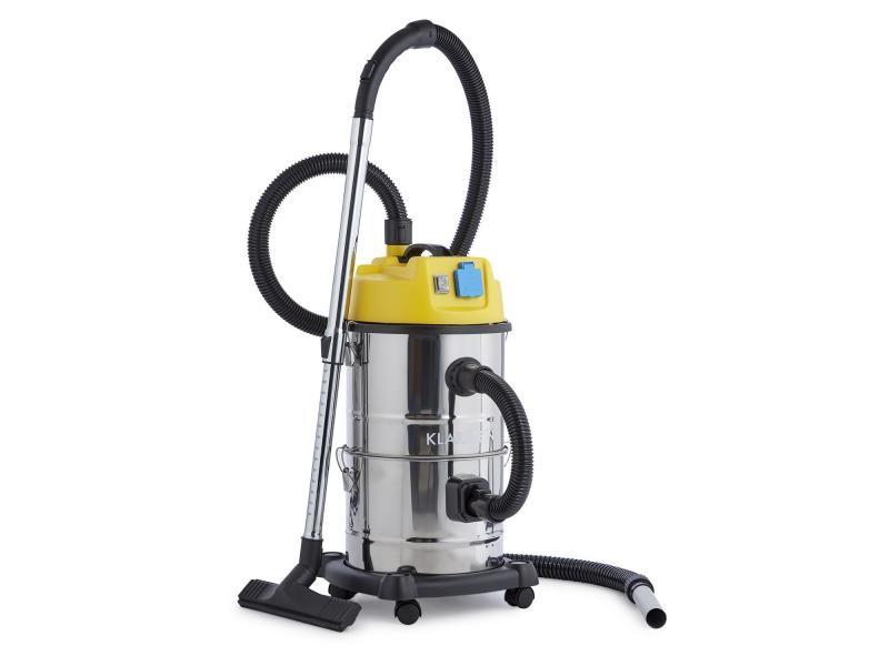 Klarstein reinraum aspirateur industriel eau et poussières 3en1 - réservoir 30l - 19 kpa - 1800w - inox
