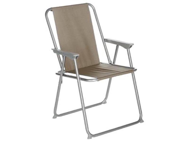 coloris l74 5 camping pliantes taupe de 6 chaises Lot de jLq54R3ScA