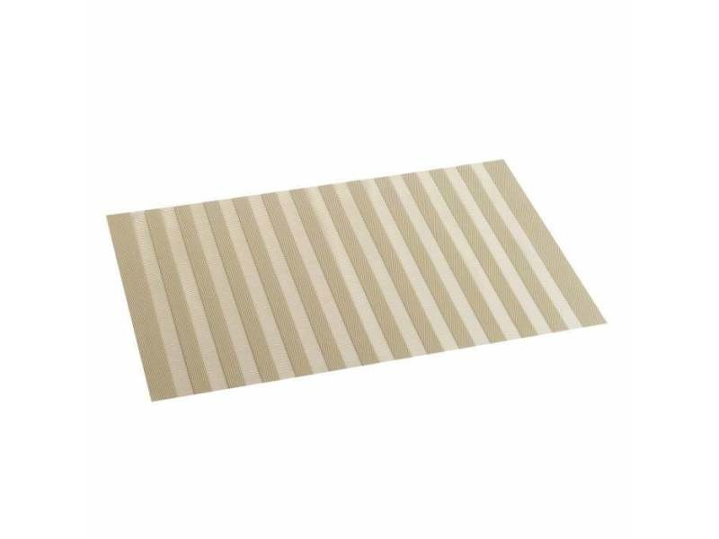 Set de table pvc ajouré garden taupe 30 x 45 cm