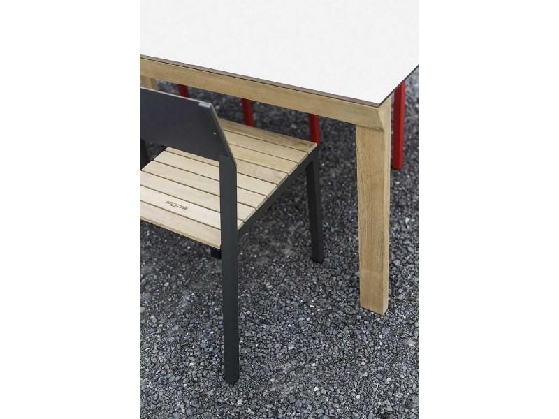 Salon de jardin egoe table desa et 4 chaises cora acacia et ...