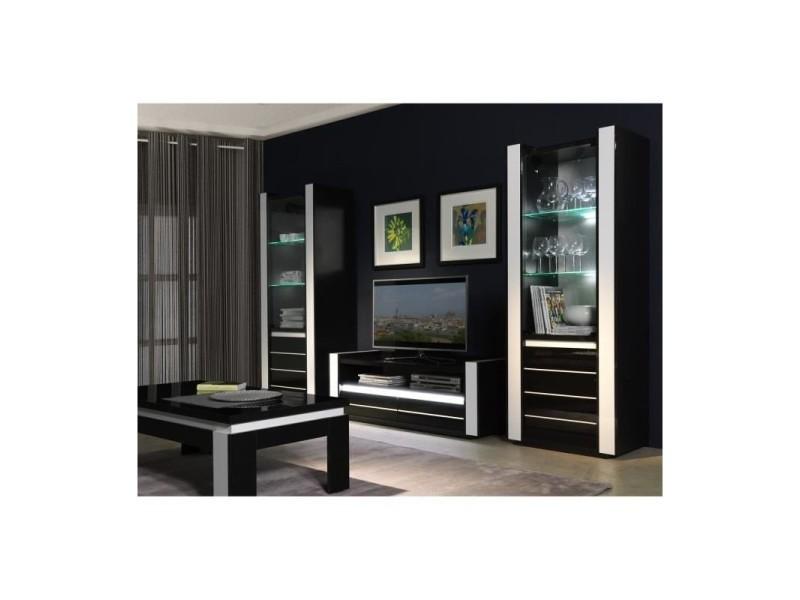 Ensemble meuble de salon lina blanc et noir laqué - Vente de PRICE ...