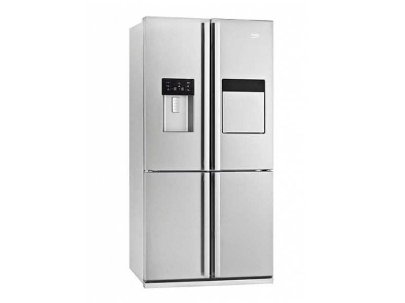 beko r frig rateur frigo am ricain 4 portes inox 522l a froid ventil no frost distributeur d. Black Bedroom Furniture Sets. Home Design Ideas