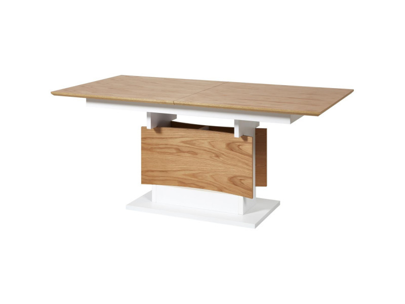 Subleem table 180/230 cm rallonge intégrée liago bois chêne / blanc