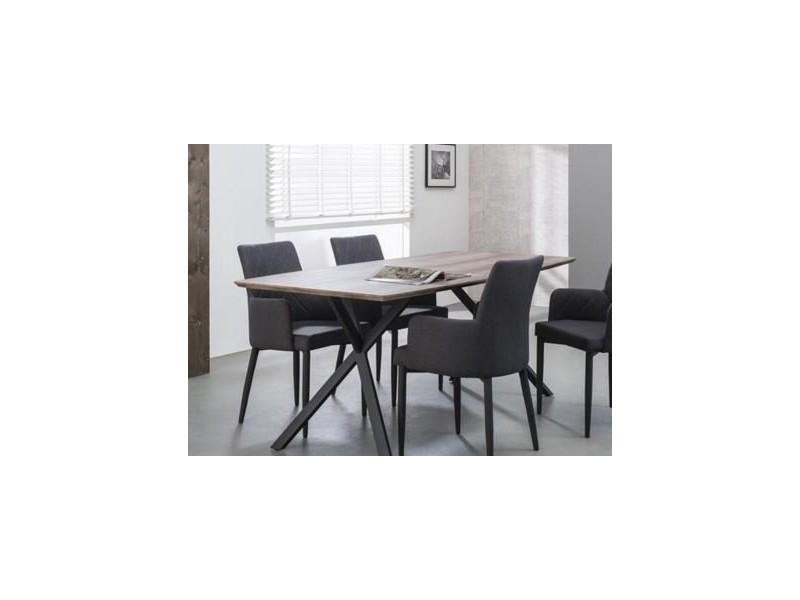 Table repas bash design chêne avec piétement en acier 20100847746