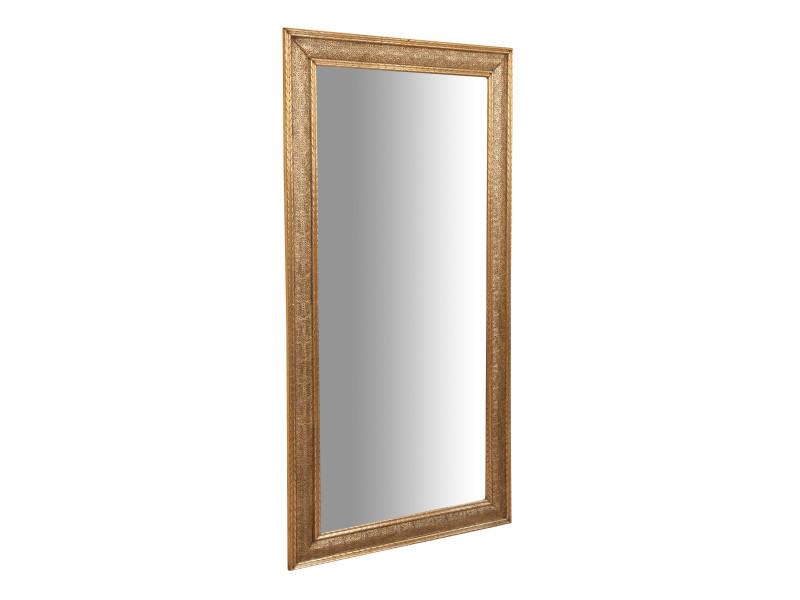 Miroir, miroir mural long rectangulaire, à accrocher au mur, horizontal et vertical, shabby chic, salle de bain, chambre à coucher, cadre finition métal, grand, long, l100xp3xh200 cm. Style shabby chic.