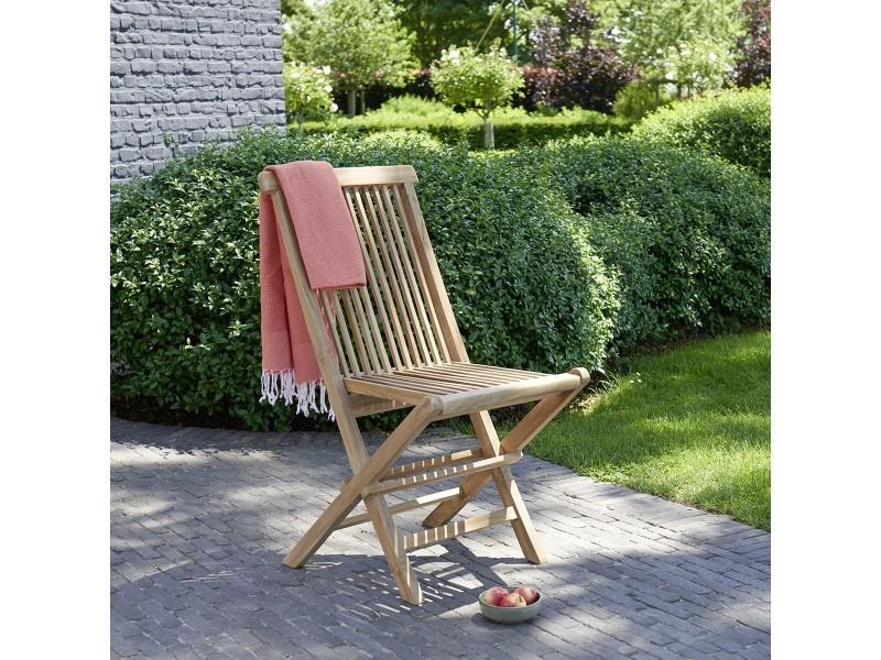 Chaise de jardin pliante en teck