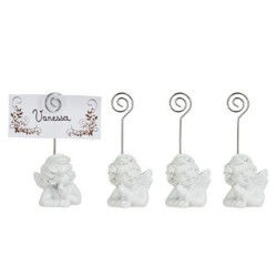 Lot de 24 marque places anges en grès blanc - 5 x 4 x 11 cm - pegane -