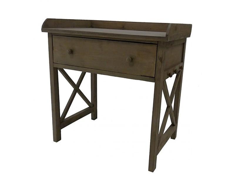 simple meuble tiroir table de chevet de nuit console basse guridon bout de canap en bois xxcm. Black Bedroom Furniture Sets. Home Design Ideas