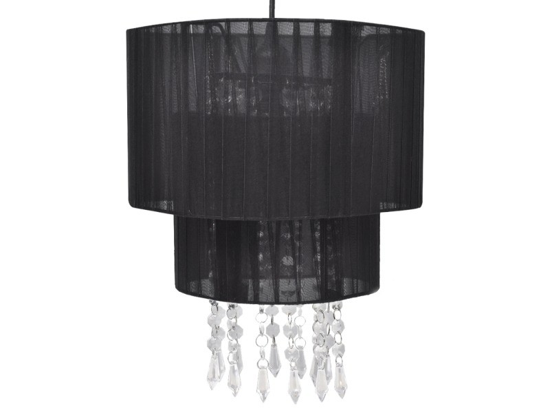 lustre plafonnier suspendu lampe moderne cristal noir 33 cm helloshop26 2402011 vente de. Black Bedroom Furniture Sets. Home Design Ideas