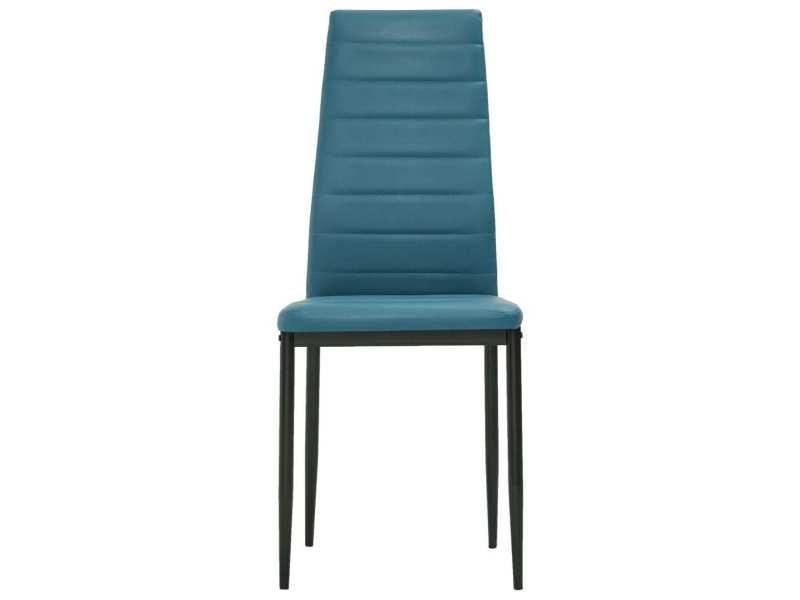 Vidaxl chaises de salle à manger 4 pcs bleu marine