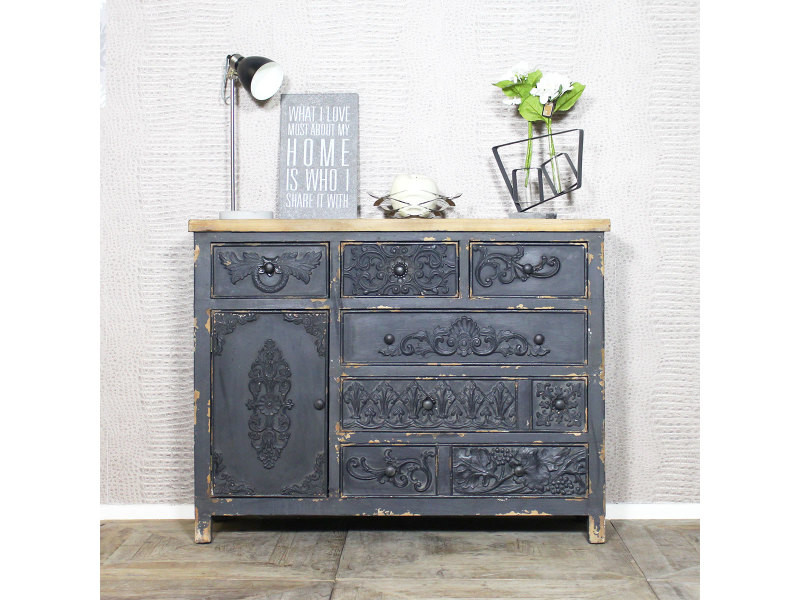 buffet ancien bastille 1 porte 6 tiroirs uhn48 vente de buffet bahut vaisselier conforama. Black Bedroom Furniture Sets. Home Design Ideas