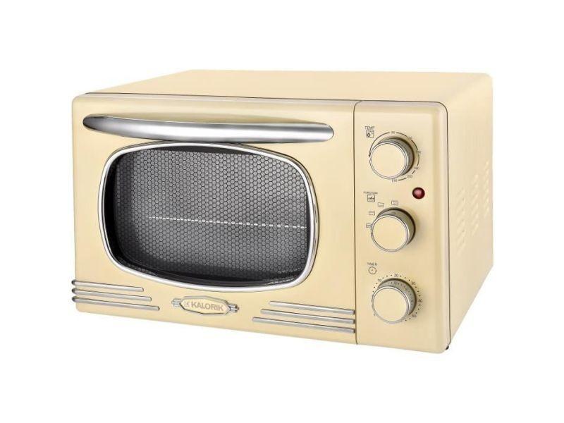 Kaloric ot2500 - mini four - 19,5 l - 1300 w - minuterie 60 min - design retro creme KALOT2500R