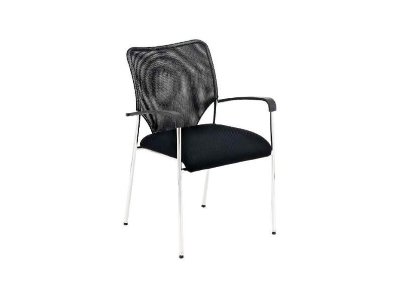 Affordable chaise visiteur bureau noir pieds chrom avec for Chaise bercante allaitement
