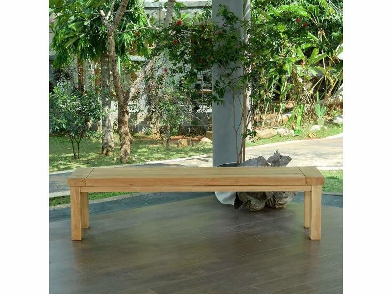 Banc en teck effet recyclé 230 cm fontainebleau Teck massif de qualité Ecograde©