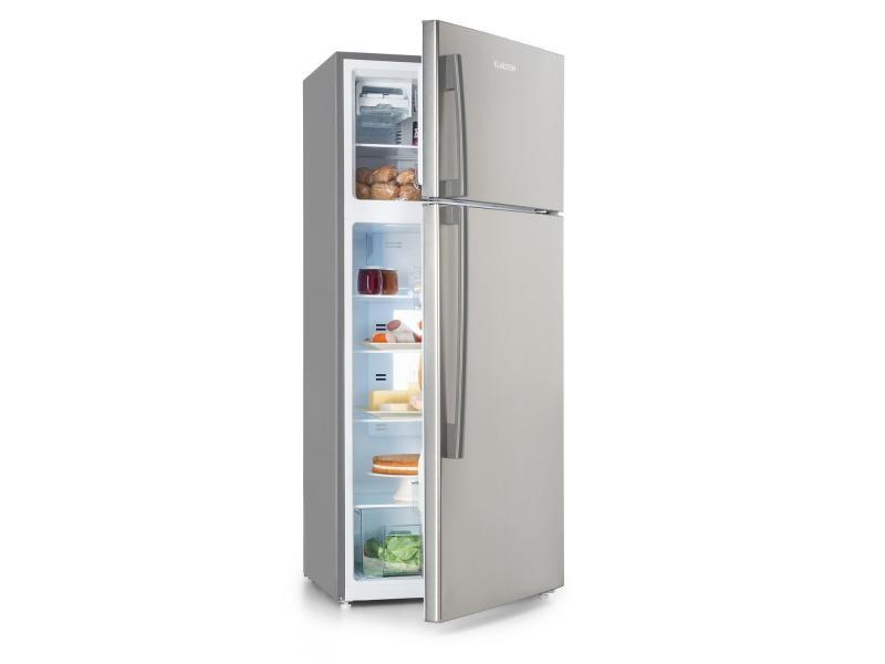 Klarstein jumbo cool combiné réfrigérateur 394l / congélateur 116l, classe a+ - argent