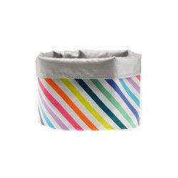 Panier de rangement m - technicolor - rayures