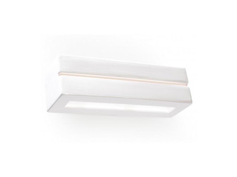 Applique murale vega line céramique blanc 1 ampoule