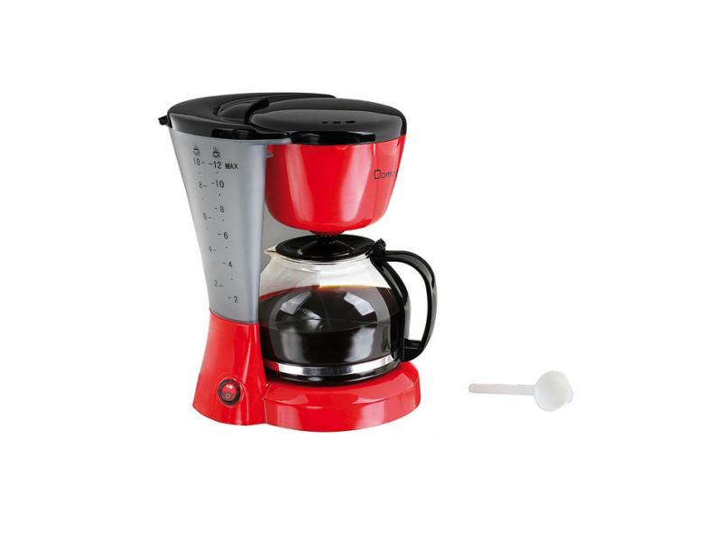 12 Tasses Filtre Cafetière Dom163rn Rougenoir 1200w N8nwvm0O