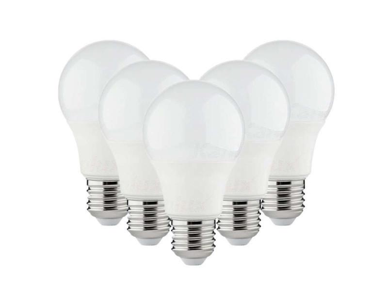 Lot de 5 ampoules led a60 smd 8,5w e27 - blanc chaud 3000k 5XKL-32923