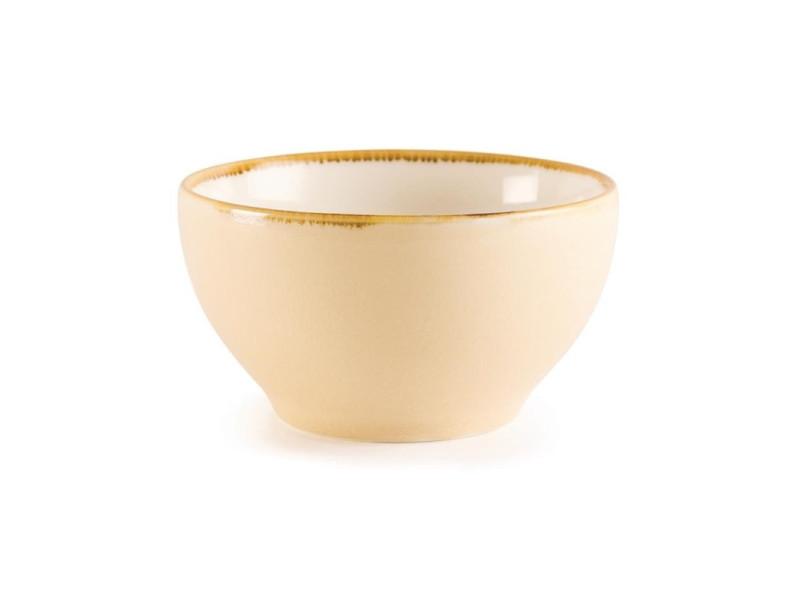 Bol rond couleur sable kiln olympia 140mm - lot de 6 - 14 cm porcelaine 63,5 cl