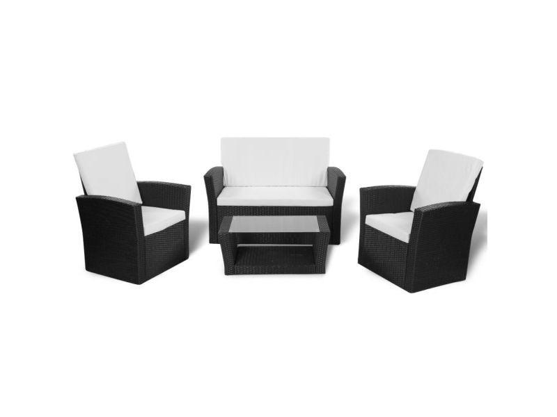 Icaverne - ensembles de meubles d'extérieur categorie jeu de canapés de jardin 10 pcs noir résine tressée