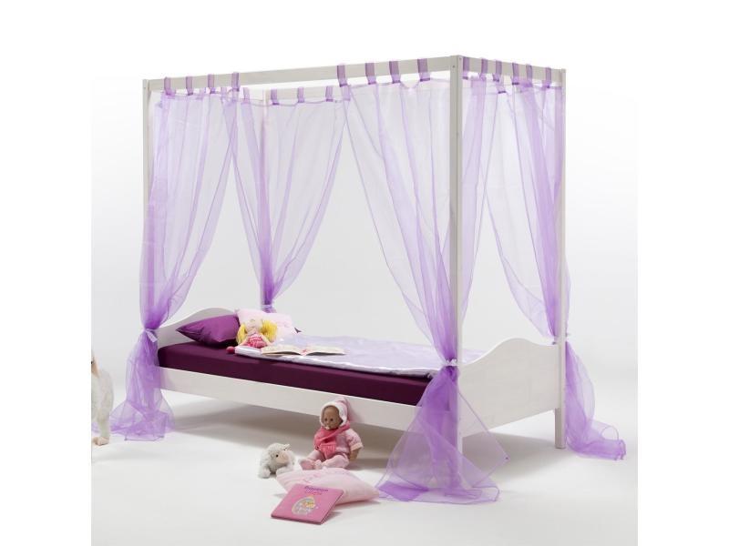 lit baldaquin nadine 90x200 cm vente de idimex conforama. Black Bedroom Furniture Sets. Home Design Ideas