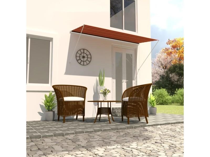 Vidaxl auvent rétractable 300x150 cm orange et marron 145897