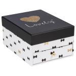 Boîte à bijoux cherry - blanc et noir