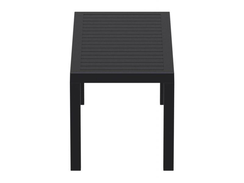 Table de jardin en plastique noir résistante aux intempéries ...