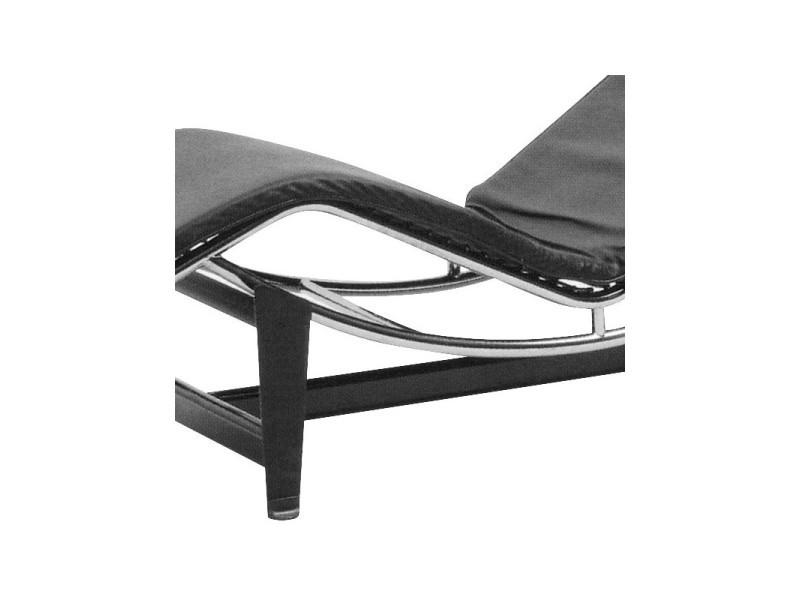 Chaise longue cuir noir - corbs - l 165 x l 58 x h 67 - neuf - Vente on chaise furniture, chaise sofa sleeper, chaise recliner chair,