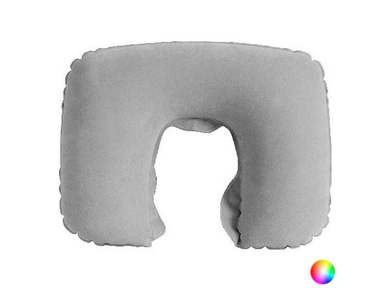 Coussin cervical coloré à gonfler - coussin de voyage couleur - bleu