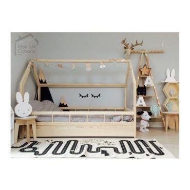 lit cabane h barri re pleine 90x190 vente de. Black Bedroom Furniture Sets. Home Design Ideas