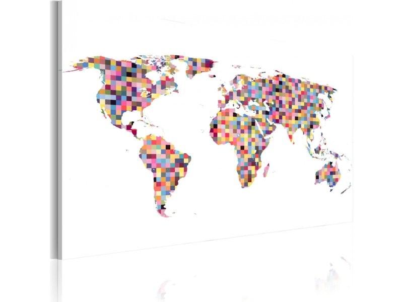 Conforama Carte Monde.Tableau Carte Du Monde En Pixels A1 N2167 Dkxpwd Vente De