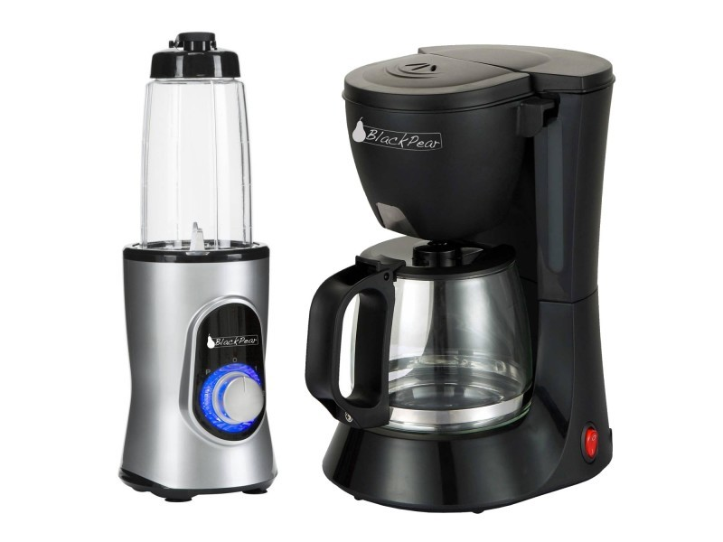 Cafetiere 10 - 12 tasses black pear bcm112 + blender black pear bbl100 220w capacité 0.6l gris